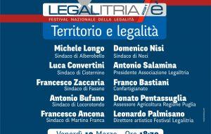 Festival LegalItria: venerdì 19 Sindaci a confronto su territori e legalità