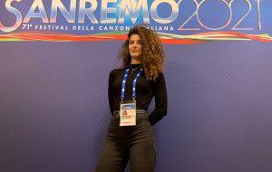 La ballerina brindisina Federica Strabace al Festival di Sanremo