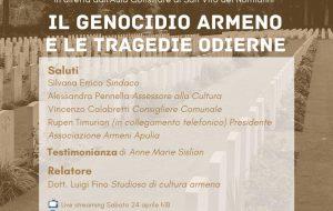 Giornata della Memoria del Genocidio Armeno: iniziativa del Comune di San Vito dei Normanni