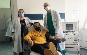 Al Perrino due nuove procedure di plasmaferesi. L'appello alla donazione di Giuseppe Scarafile