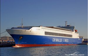 Porto di Brindisi: dal 20 aprile entra in linea l'Eurocargo Valencia di Grimaldi