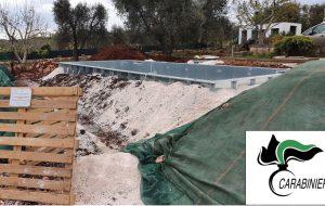 Ceglie Messapica: sigilli ad una cantiere edile con piscina abusiva