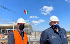 """Emiliano e Lopalco in visita al cantiere del nuovo ospedale di Monopoli-Fasano: """"sarà uno dei più belli mai costruiti"""""""