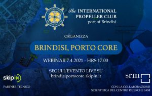 "L'International Propeller Club di Brindisi organizza il webinar ""Brindisi, Porto Core"""