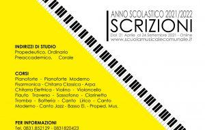 """Si aprono le iscrizioni per i corsi della Scuola Musicale Comunale """"Città di Francavilla Fontana"""""""