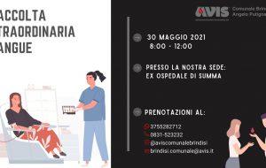 Avis: domenica 30 donazione di sangue presso l'ex Ospedale Di Summa