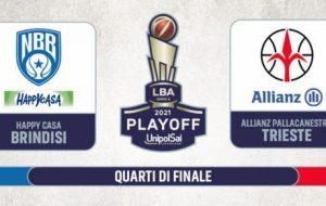 Playoff, Gara1 è della Happy Casa Brindisi: sconfitta Trieste 85-64. Alle 20.45 c'è già Gara2