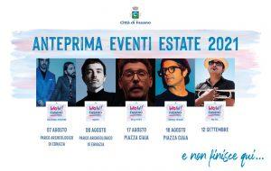 Wow Fasano: ad Agosto Colapesce e Dimartino, Diodato, Willie Peyote, Samuele Bersani e Roy Paci