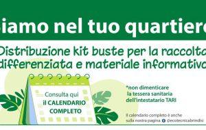 Ecotecnica, distribuzione kit buste per la differenziata e materiale informativo: il calendario
