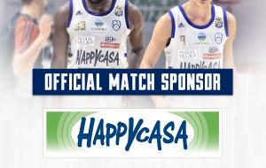 Happy Casa Store match sponsor gara 2 playoff Brindisi-Trieste