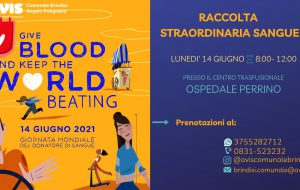 Giornata Mondiale del Donatore di Sangue: Avis presente all'ospedale Perrino