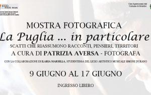 """Brindisi e le Antiche Strade: presso l'Accademia degli Erranti dal 9 al 17 Giugno la mostra fotografica """"La Puglia…In particolare"""""""