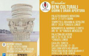 Comune di Brindisi: gli orari di apertura dei beni culturali