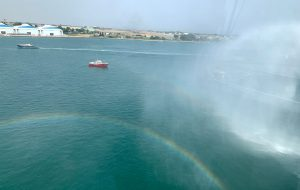 Esercitazione in porto a Brindisi: simulato incendio a bordo di un traghetto