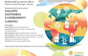 """Mercoledì 14 si presenta a Brindisi il nuovo corso di laurea in """"Sviluppo sostenibile e cambiamenti climatici"""""""