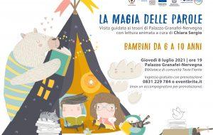 La magia delle parole: giovedi 8 luglio visita guidata per bambini tra i tesori della Brindisi romana custoditi a Palazzo Nervegna