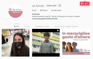 Attivato il profilo Instagram della Asl Brindisi