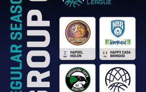 Happy Casa Brindisi inserita nel girone G della regular season Basketball Champions League 2021/22