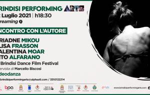 Brindisi Performing Arts Festival: domani incontro con l'autore in streaming