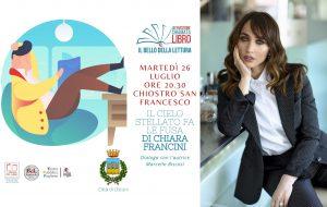 Chiara Francini a Un'emozione chiamata libro