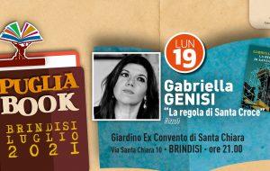 """Puglia Book Brindisi: lunedì 19 Gabriella Genisi presenta """"La regola di Santa Croce"""""""