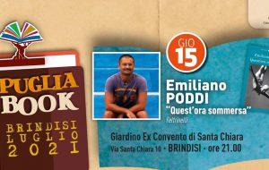 Puglia Book Brindisi: giovedì 15 Emiliano Poddi all'ex Convento Santa Chiara