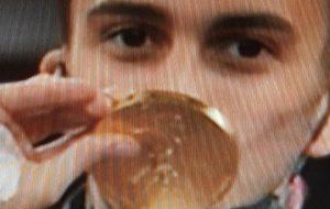 """Mesagne in festa per l'oro di Vito Dell'Aquila, Matarrelli: """"attendiamo il suo rientro per festeggiare"""". Le congratulazioni di Emiliano e Rossi"""