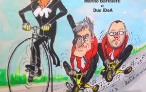 Marino Bartoletti ed il Duo Idea portano in scena uno spettacolo sul ciclismo nel Parco di Santa Maria d'Agnano