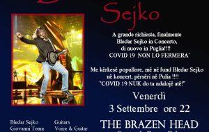 Due musicisti brindisini scelti per il tour pugliese di Bledar Sejko