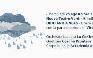 """Barocco Festival: l'opera """"Didone ed Enea"""" spostata nel Nuovo Teatro Verdi"""