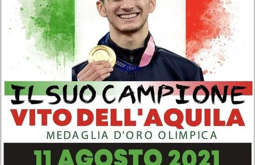 """Mesagne festeggia il campione Vito Dell'Aquila: mercoledì 11 agosto allo Stadio """"Alberto Guarini"""""""