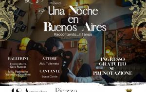 Una Noche en Buenos Aires: spettacolo di tango argentino questa sera in piazza Orsini del Balzo
