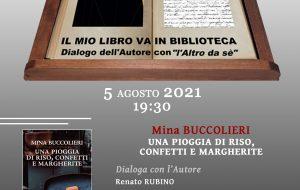 """Giovedì 5 al Mapri Mina Buccolieri presenta il libro """"Una pioggia di riso, confetti e margherite"""""""
