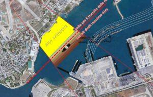 Entrano in vigore da oggi i nuovi limiti di ingombro in air draft per le unità in transito e all'ormeggio nel porto di Brindisi