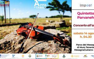 """""""Appia in Tabula"""" termina con il violoncello di Giulia Mazza ed il concerto all'alba del Quintetto Parvaneh"""