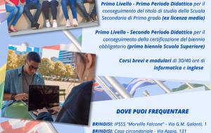 Aperte le iscrizioni ai corsi per adulti organizzati dal C.P.I.A. di Brindisi