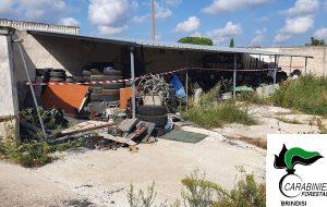 Latiano: sequestrato deposito incontrollato di pneumatici fuori uso e rifiuti di autofficina