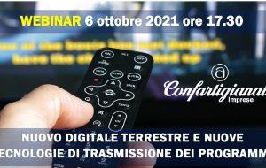Nuovo digitale terrestre, nuove tecnologie di trasmissione dei programmi: webinar di Confartigianato e Rai per gli installatori elettricisti/antennisti