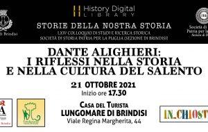 Dante Alighieri: i riflessi nella storia e nella cultura del Salento. Se ne discute il 21 Ottobre presso la History Digital Library di Brindisi