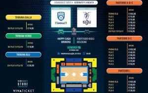 Happy Casa Brindisi: In vendita i biglietti per il match contro la Fortitudo Bologna