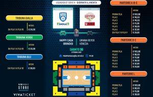 In vendita i biglietti per le prossime partite interne LBA e BCL